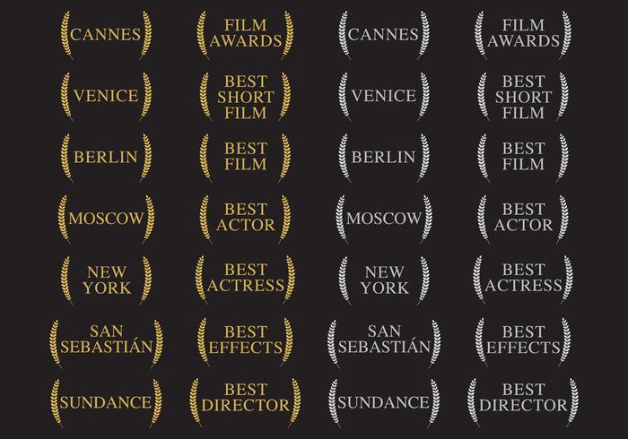 Vinnare och filmutmärkelser vektor