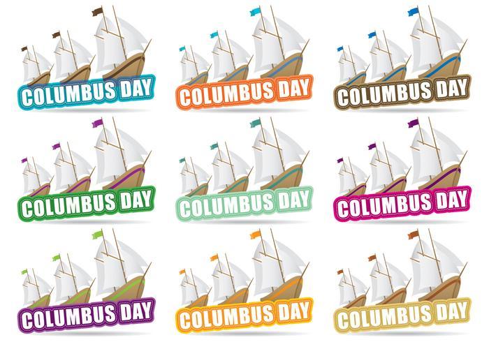 Columbus Day Titel vektor