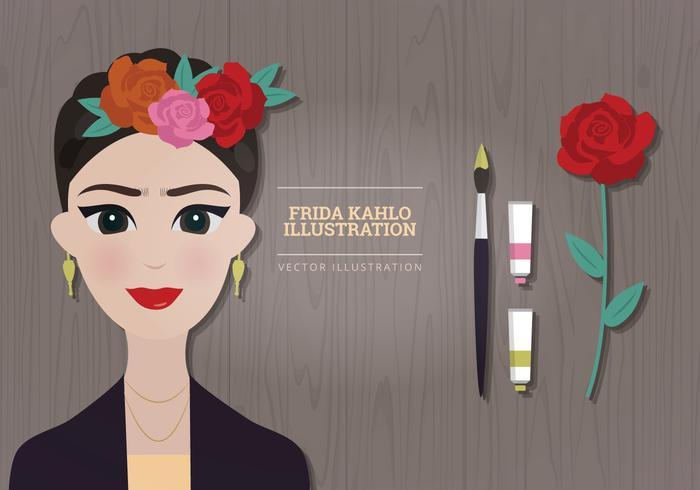 Frida Kahlo Vektorillustration vektor