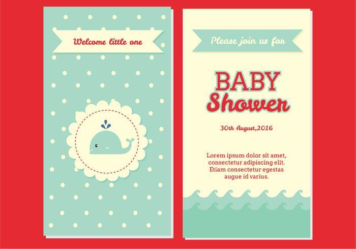 Babyparty-Einladungs-Vektor vektor