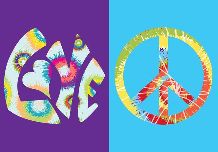 Tie Dye Vektor Symbole Farben