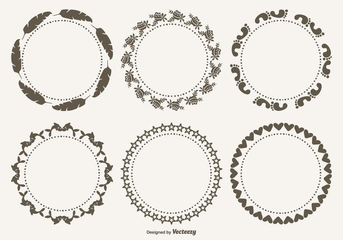 Söt dekorativa ramar Set vektor