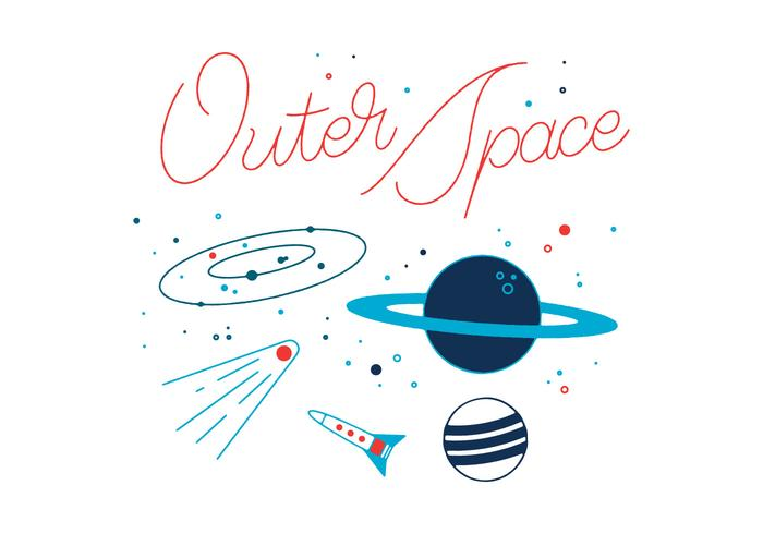 Gratis yttre rymdvektor vektor