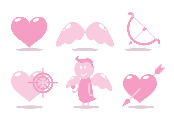 Cupids båge vektor uppsättning