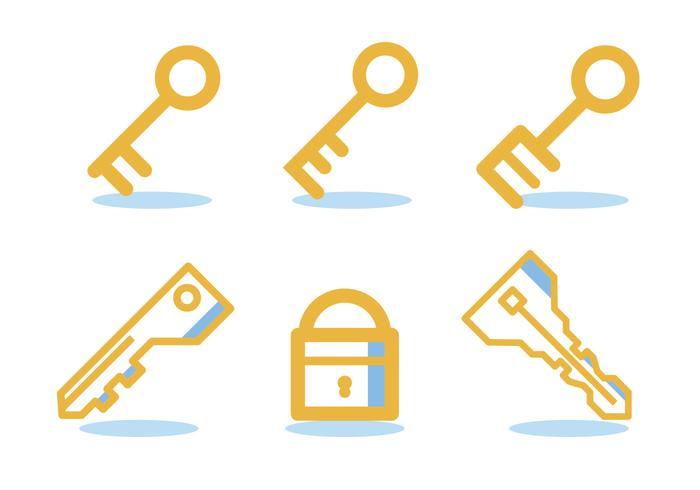 Schlüssel des Lebens Icon-Set vektor