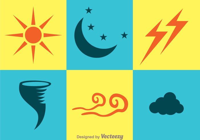 Väder ikoner vektor