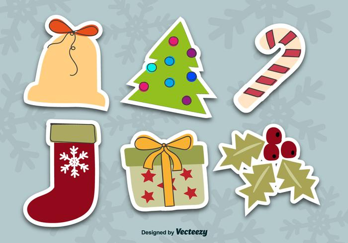 Weihnachtsaufkleber vektor