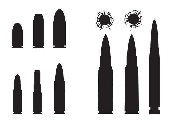 Free Bullets und Bullets Hole Vektor
