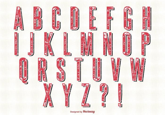 Retro-Stil Alphabet gesetzt vektor