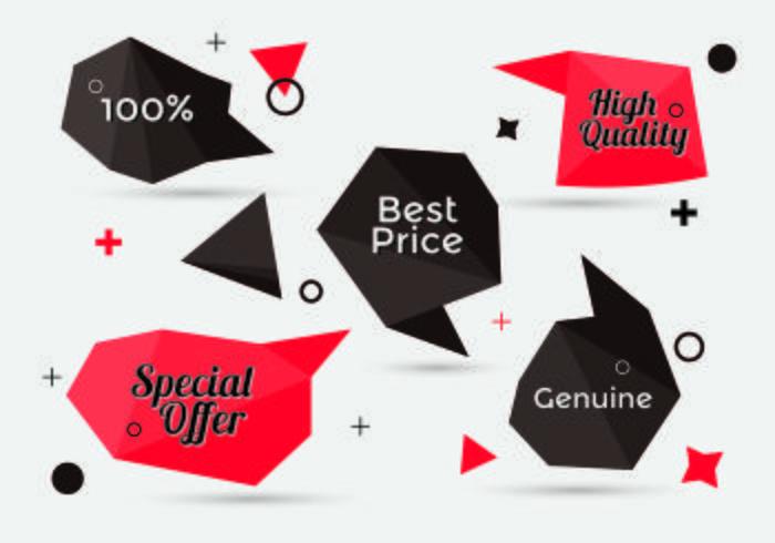 Kostenlose Sammlung von Sale Discount Styled Banners vektor