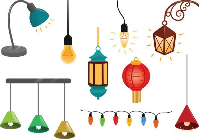 Free Hanging Lights Vektoren