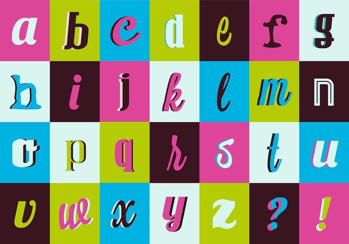 Verschiedene Retro Vintage Vektor-Typografie-Sammlung vektor