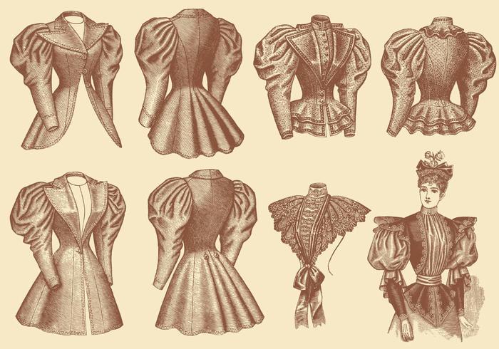 Gamla stilkläder vektor