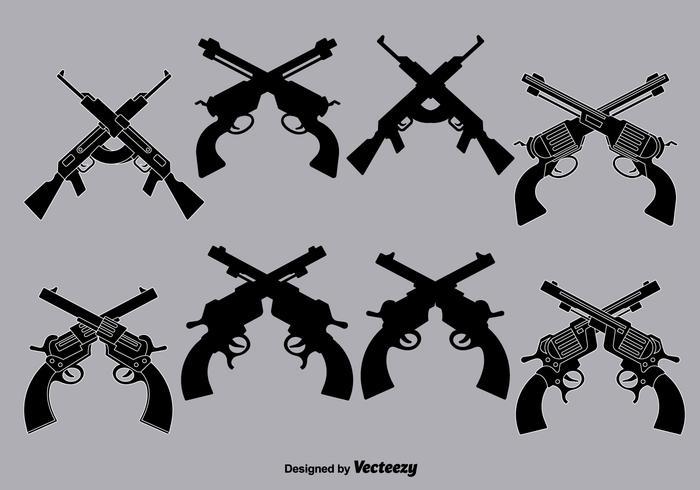 Vektor gekreuzte Kanonen
