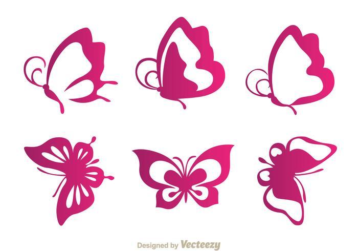 Schmetterling lila Ikonen vektor
