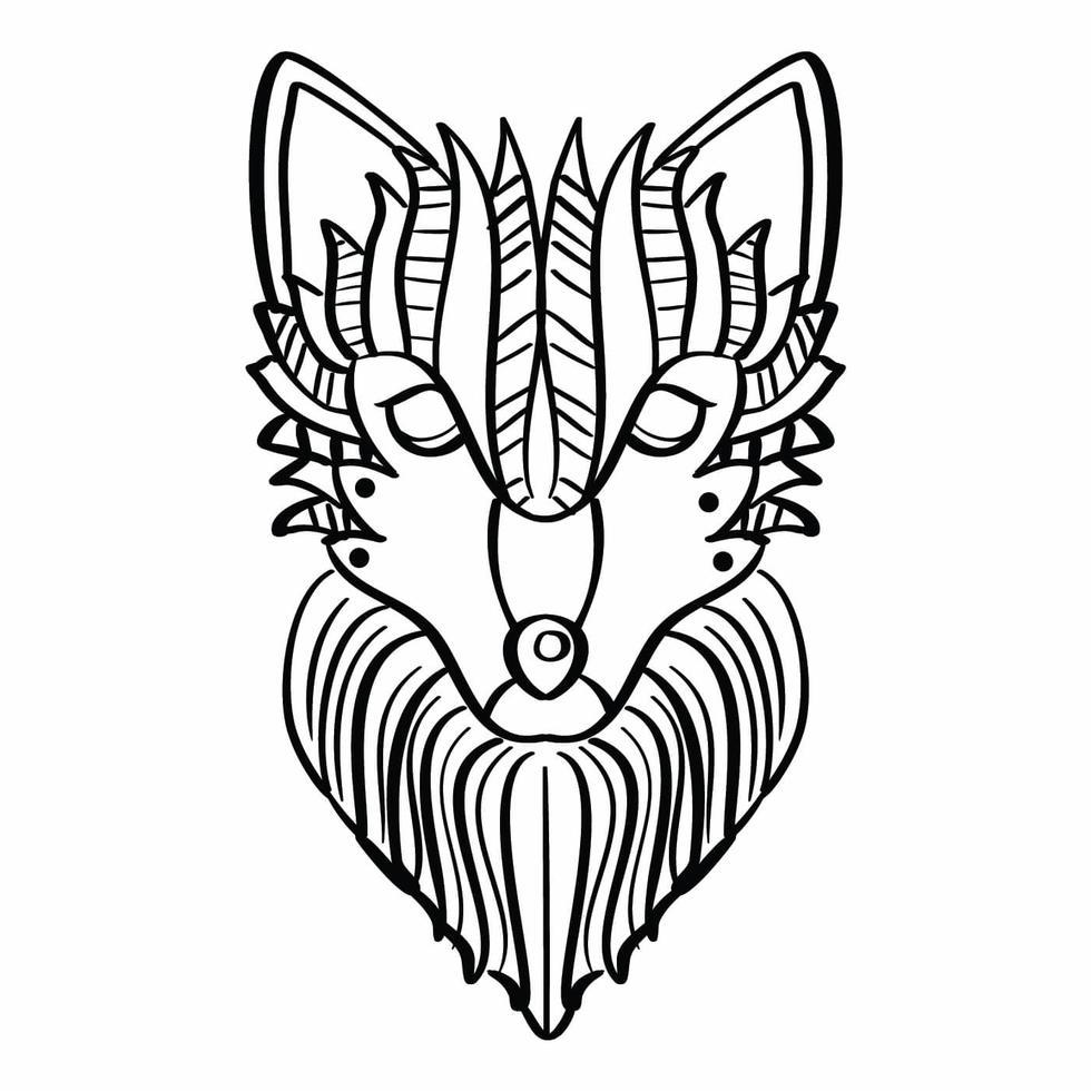 wolf malvorlagen 217518 vektor kunst bei vecteezy