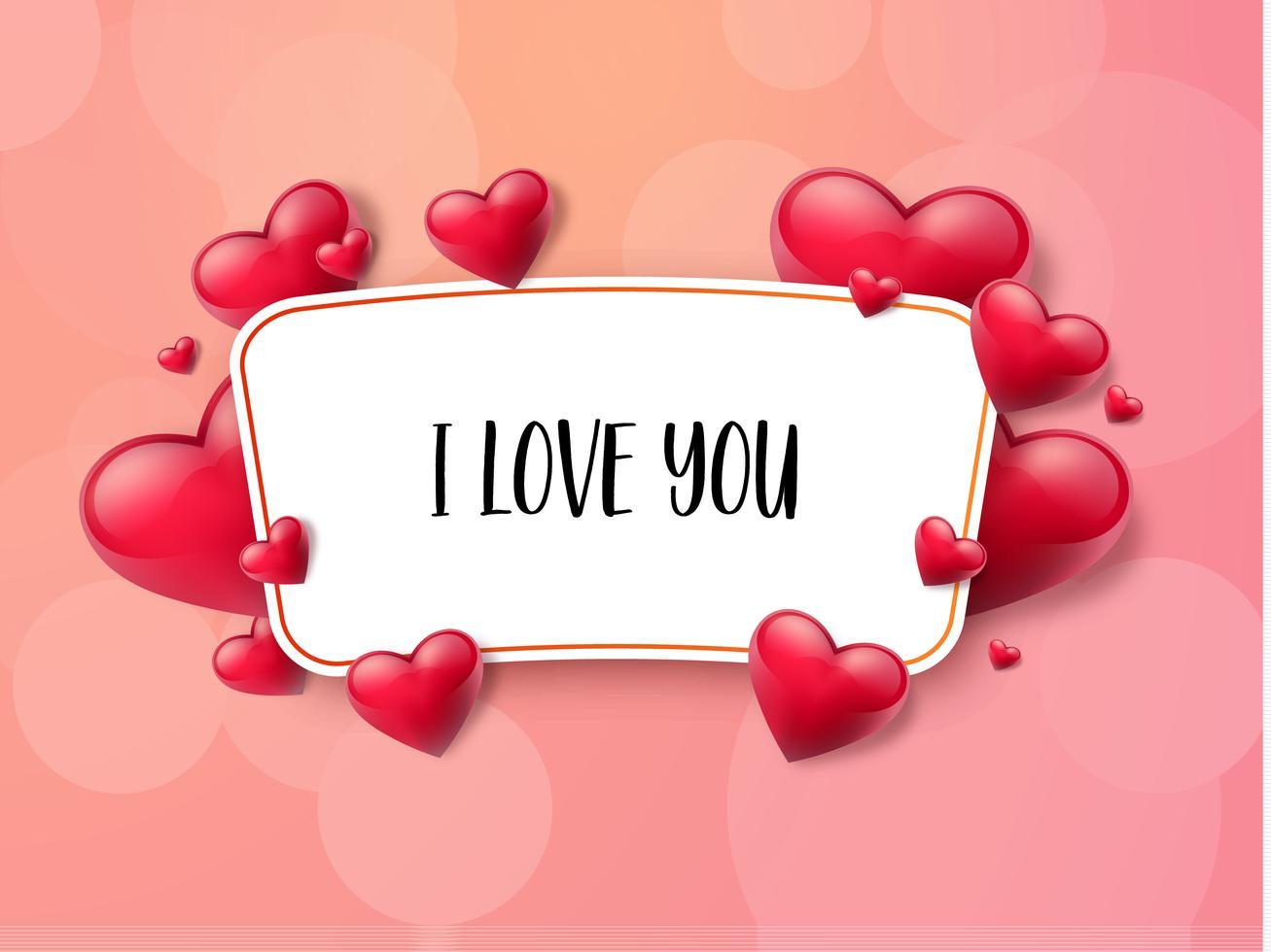 valentinstaghintergrund mit textbox und schönen herzen