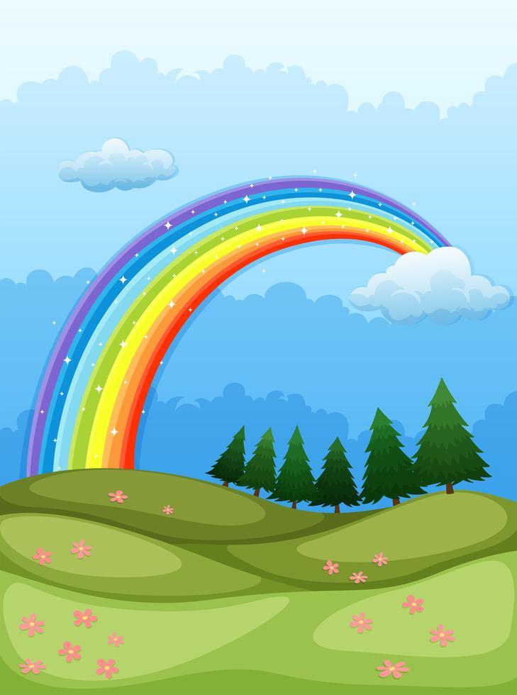 ein regenbogen am himmel 526360  download kostenlos