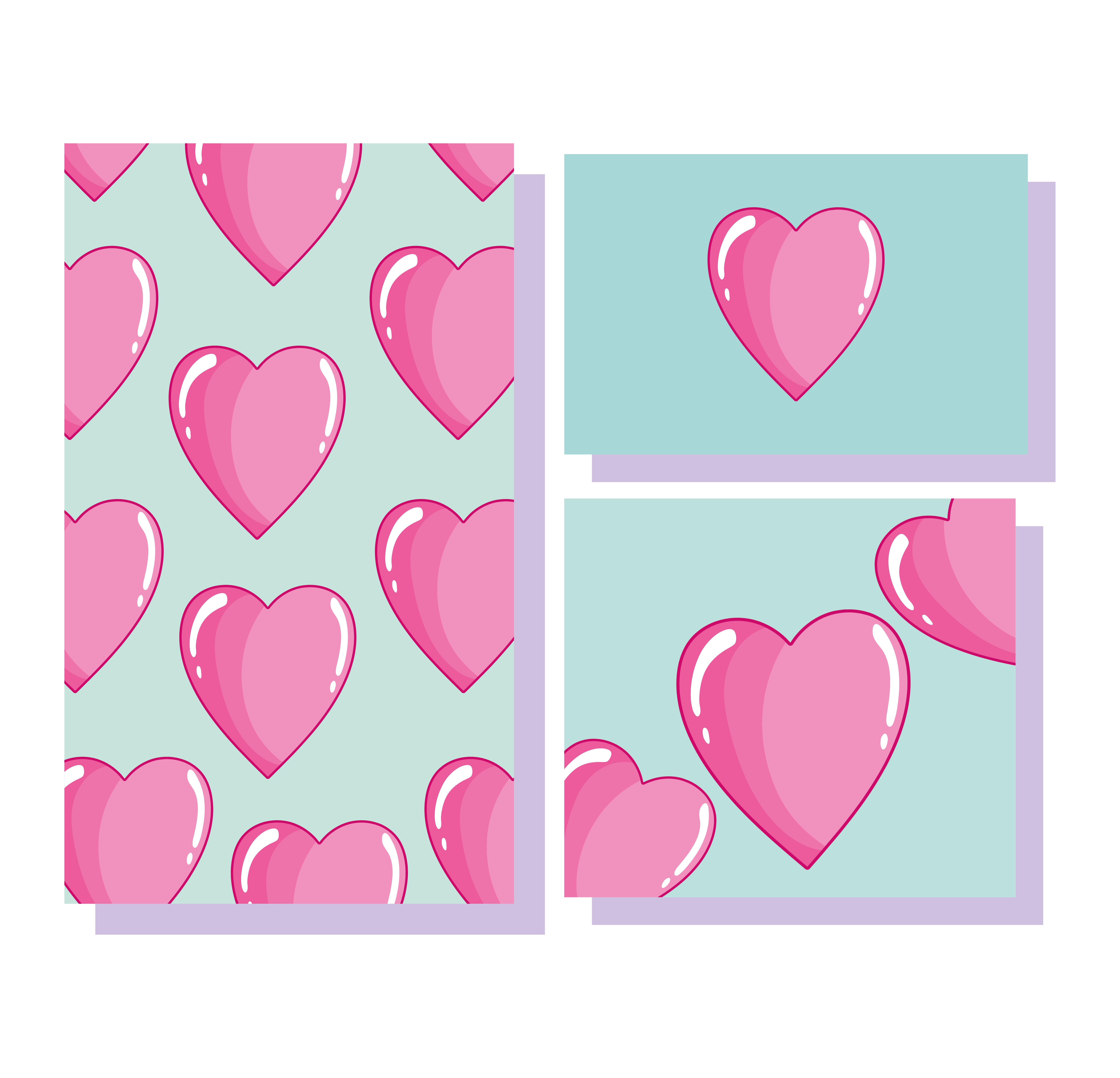 liebe romantische herzen cartoon dekoration banner