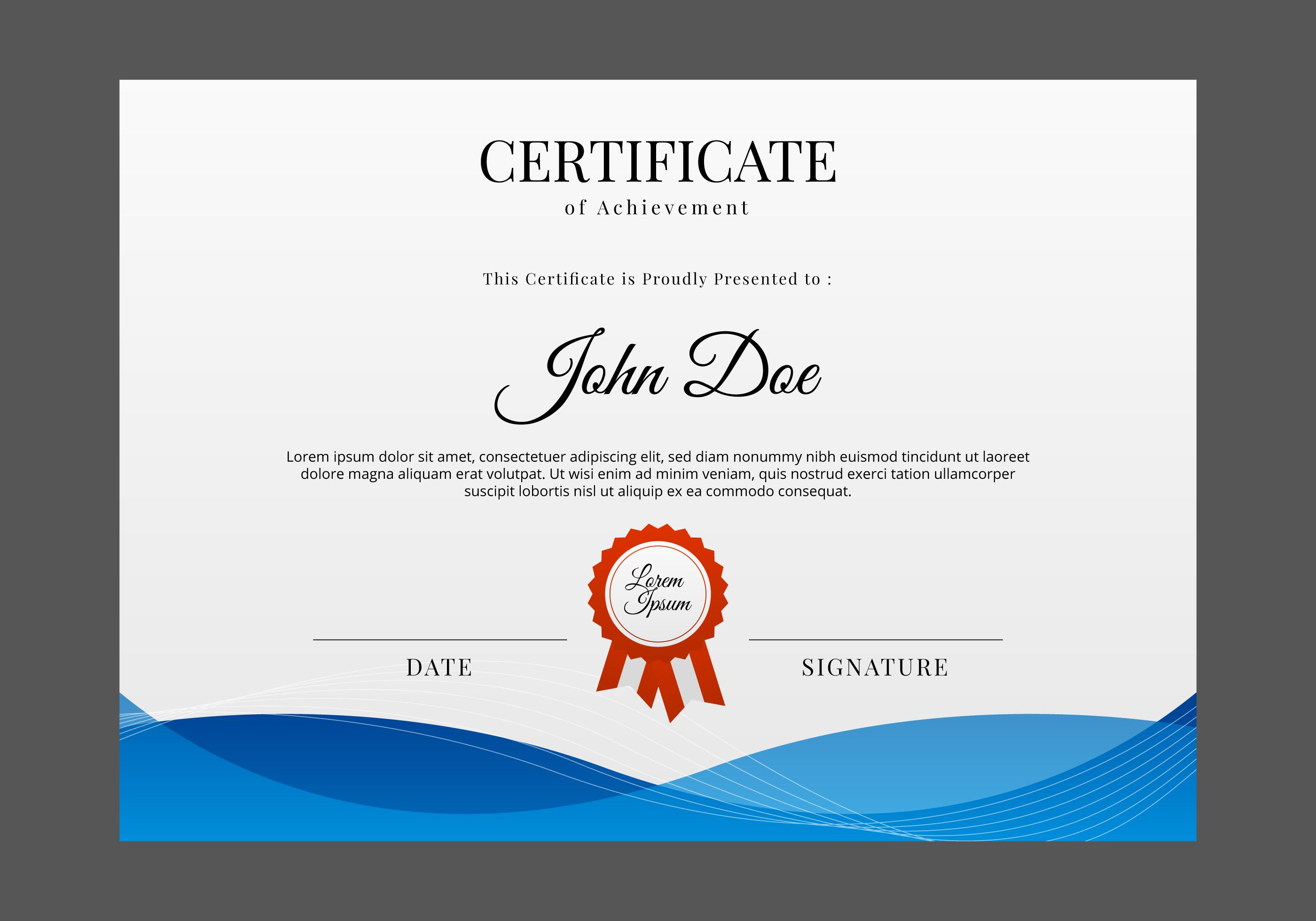 Zertifikat Vorlage Zertifikat Vorlage Zeugnis 2