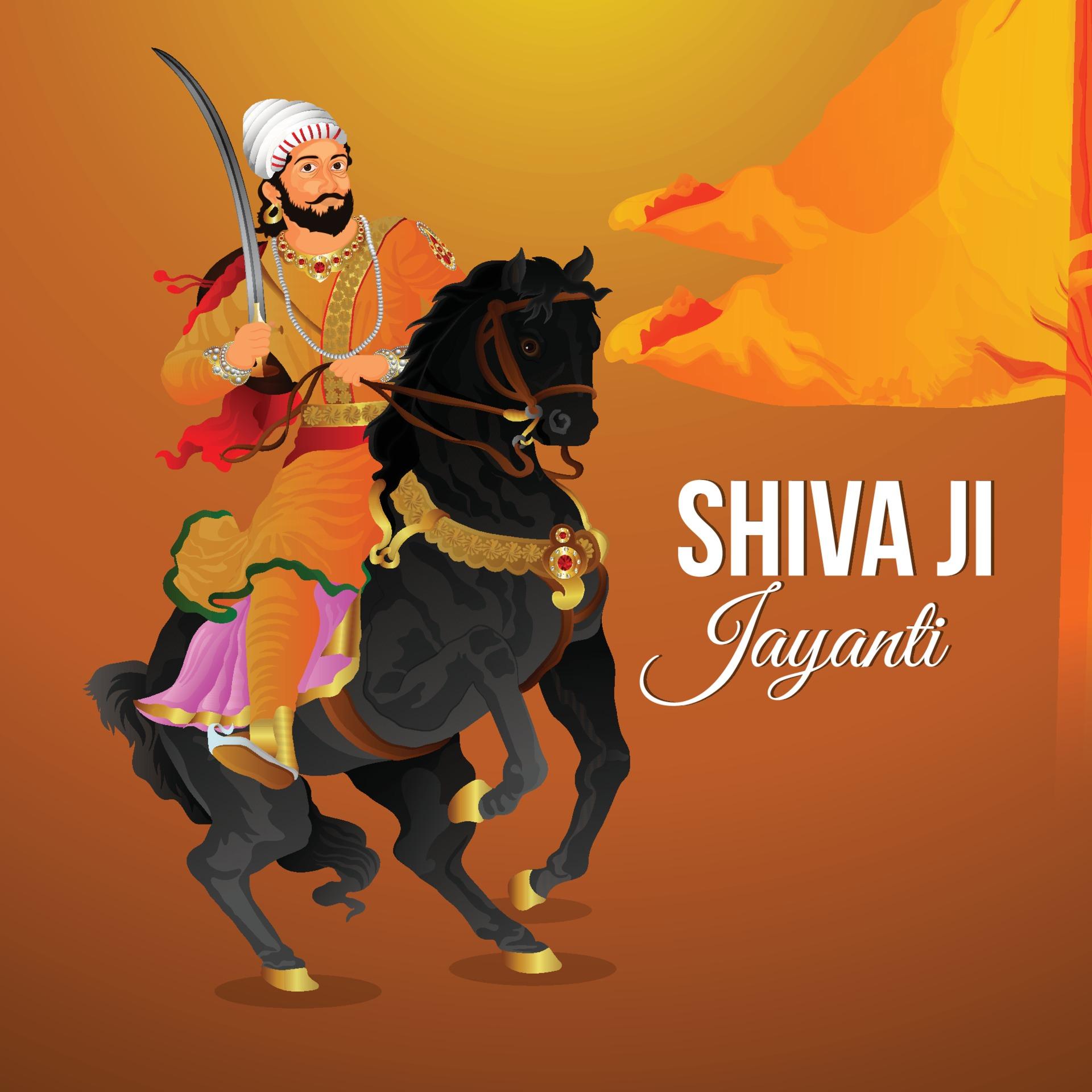 Illustration von Chhatrapati Shivaji Maharaj Jayanti 20 ...