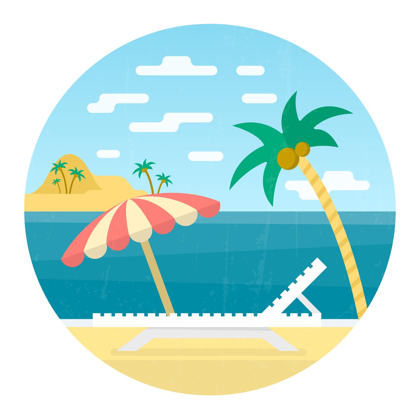 malvorlagen urlaub strand xing  ausmalbild urlaub und