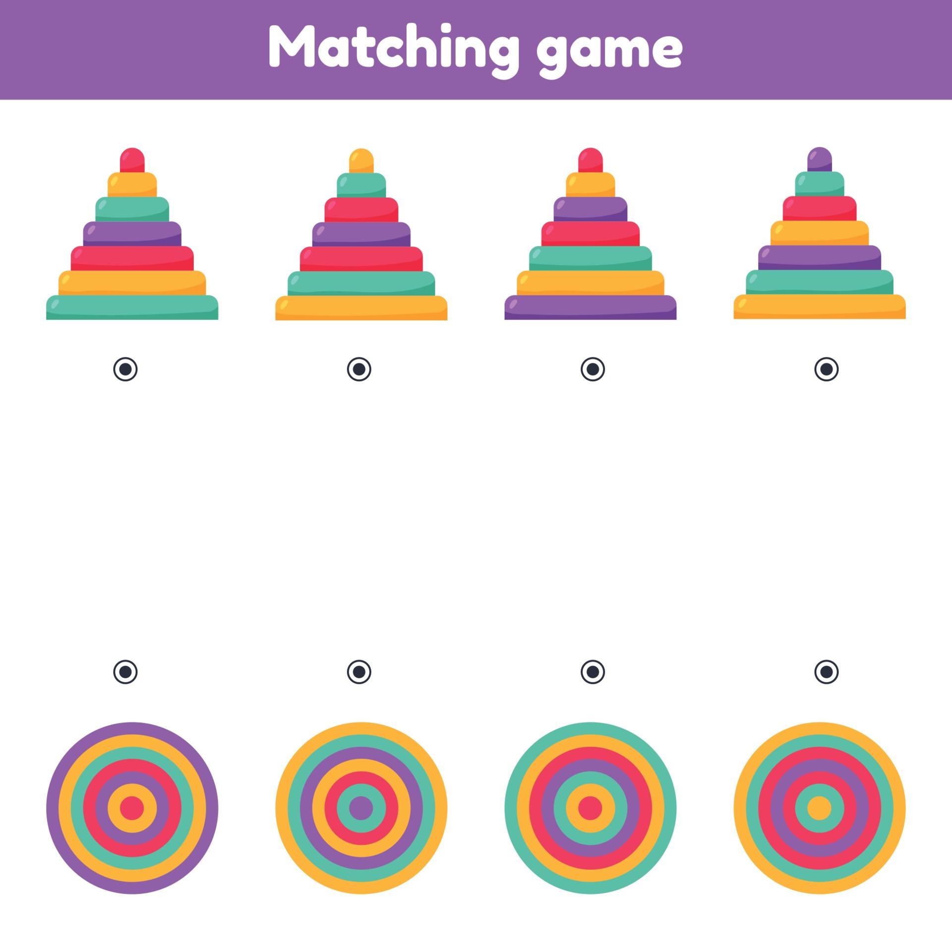 Finde die Draufsicht. Matching Spiel. Pyramiden. Arbeitsblatt für ...