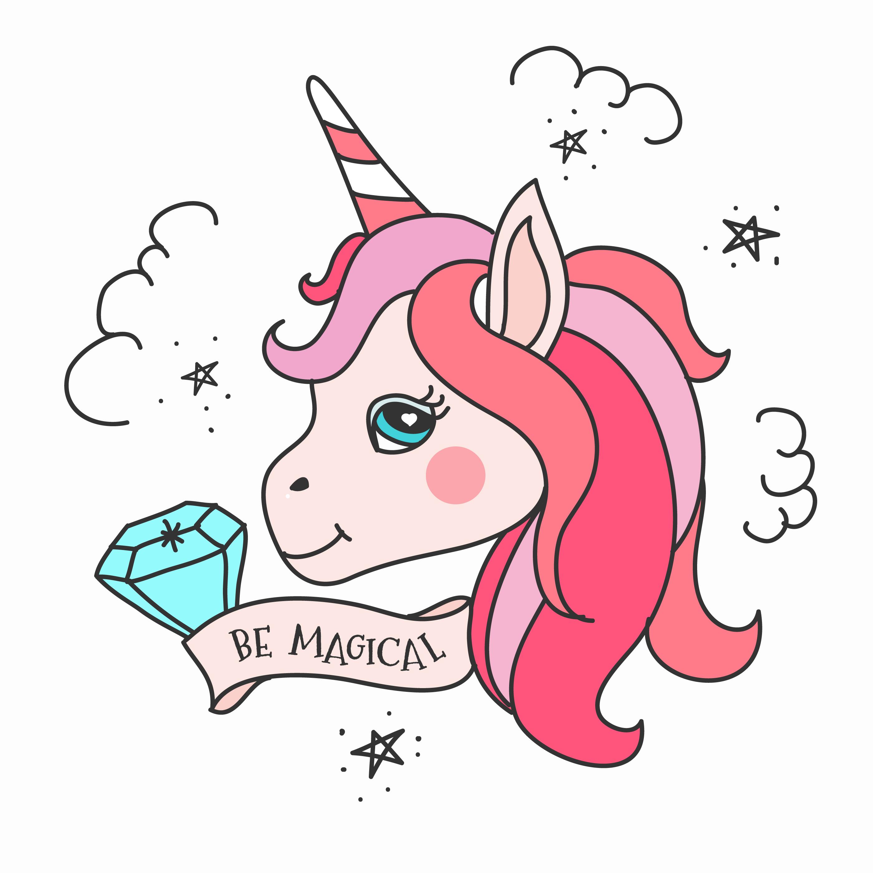 unicorn vektor kostenlos  8688 gratisdownloads