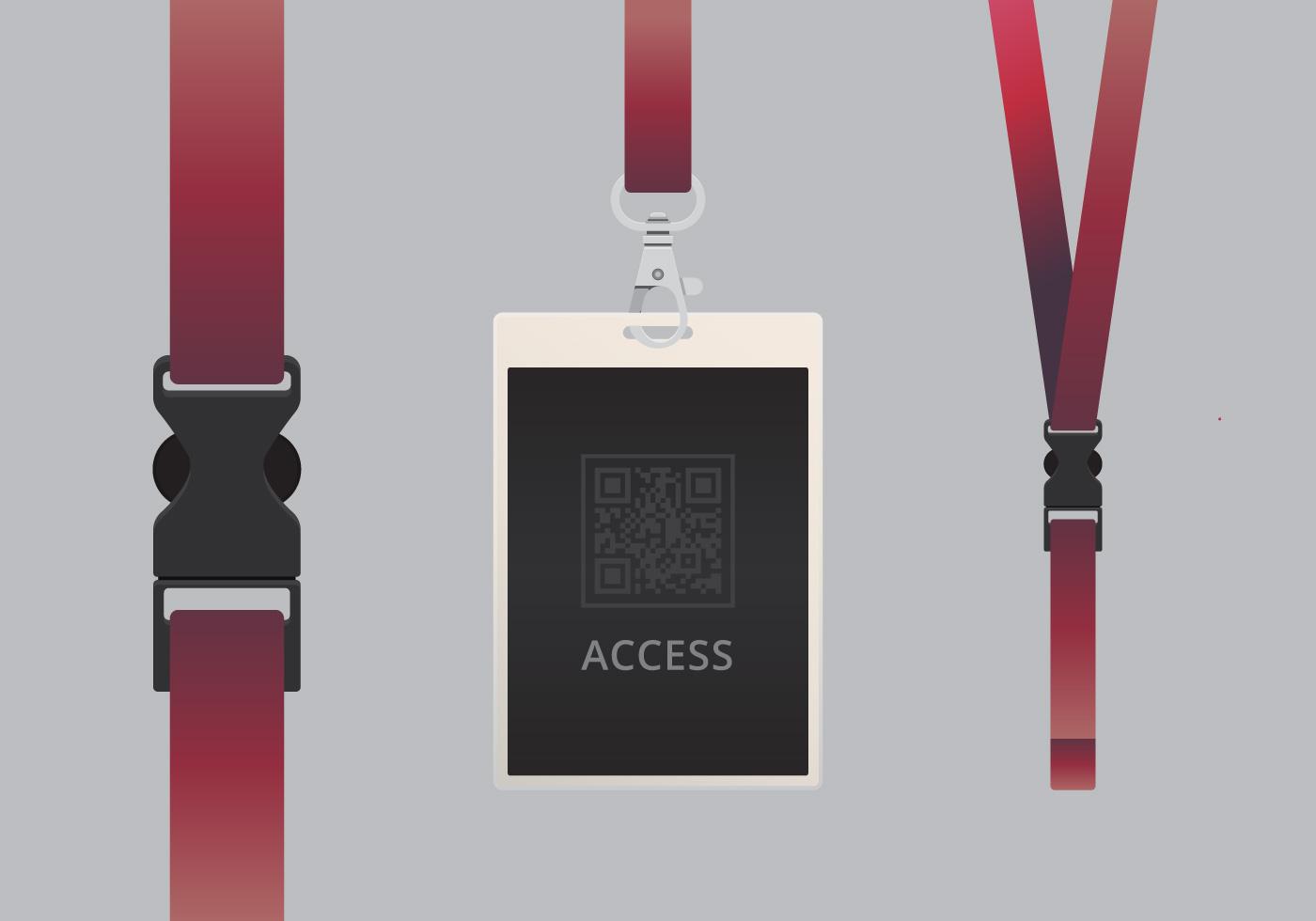 VIP Pass ID Kartenvorlage. Realistische leere vertikale ID ...