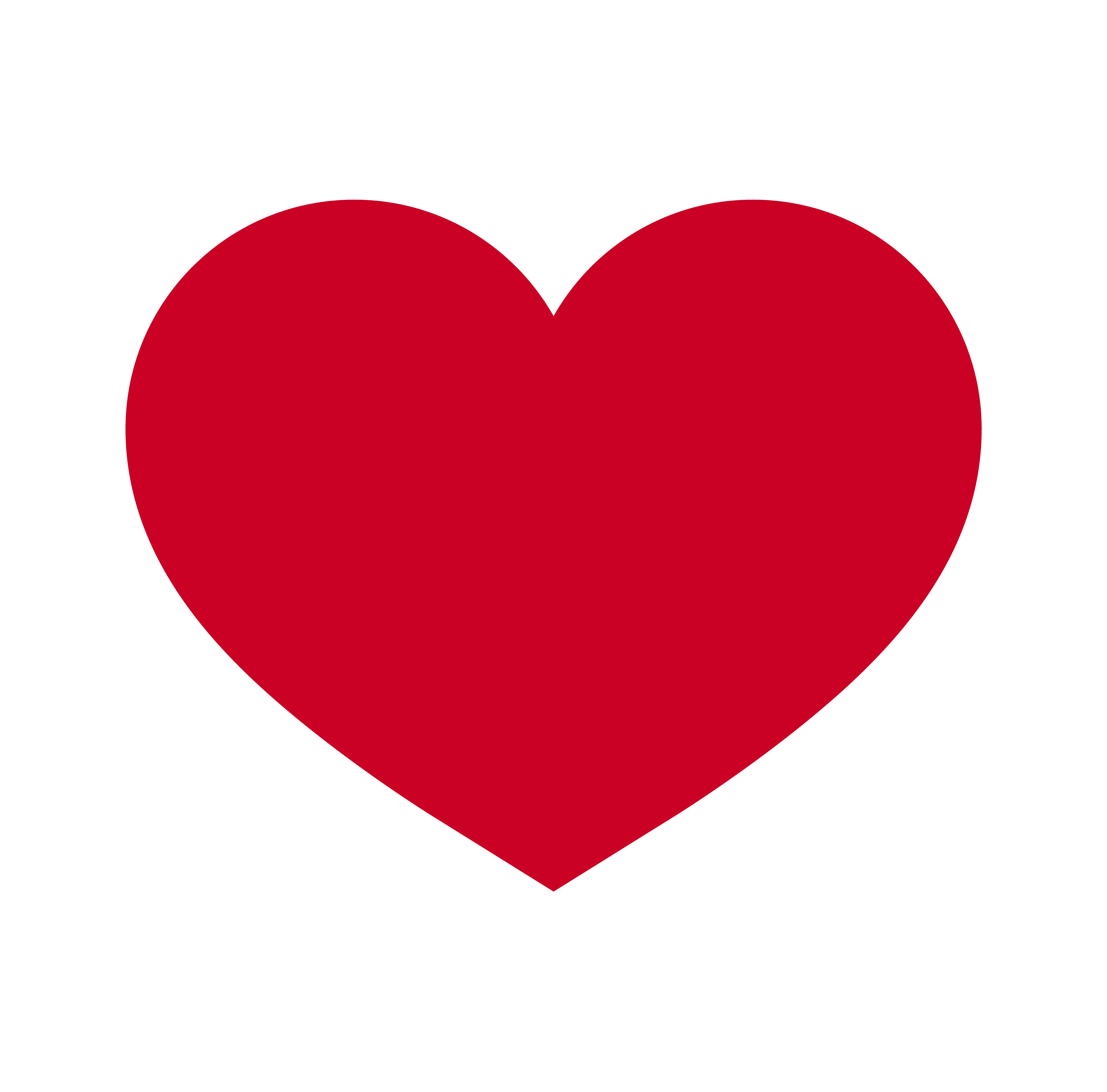 Herz, Symbol der Liebe und Valentinstag. Flache rote Ikone