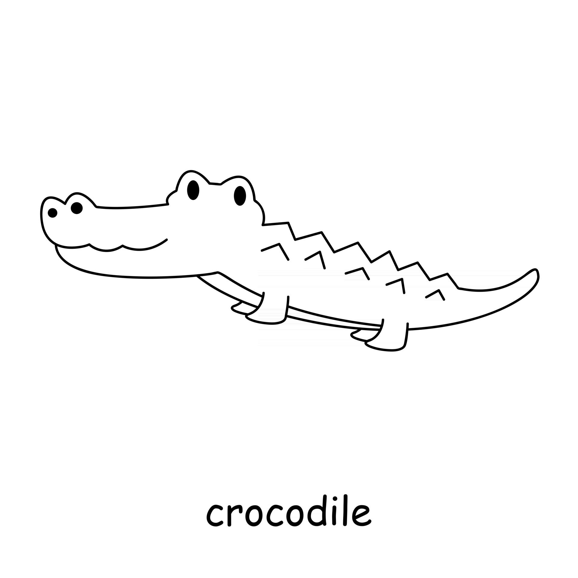 Kinder, die zum Thema Tiervektor, Krokodil färben 20 Vektor