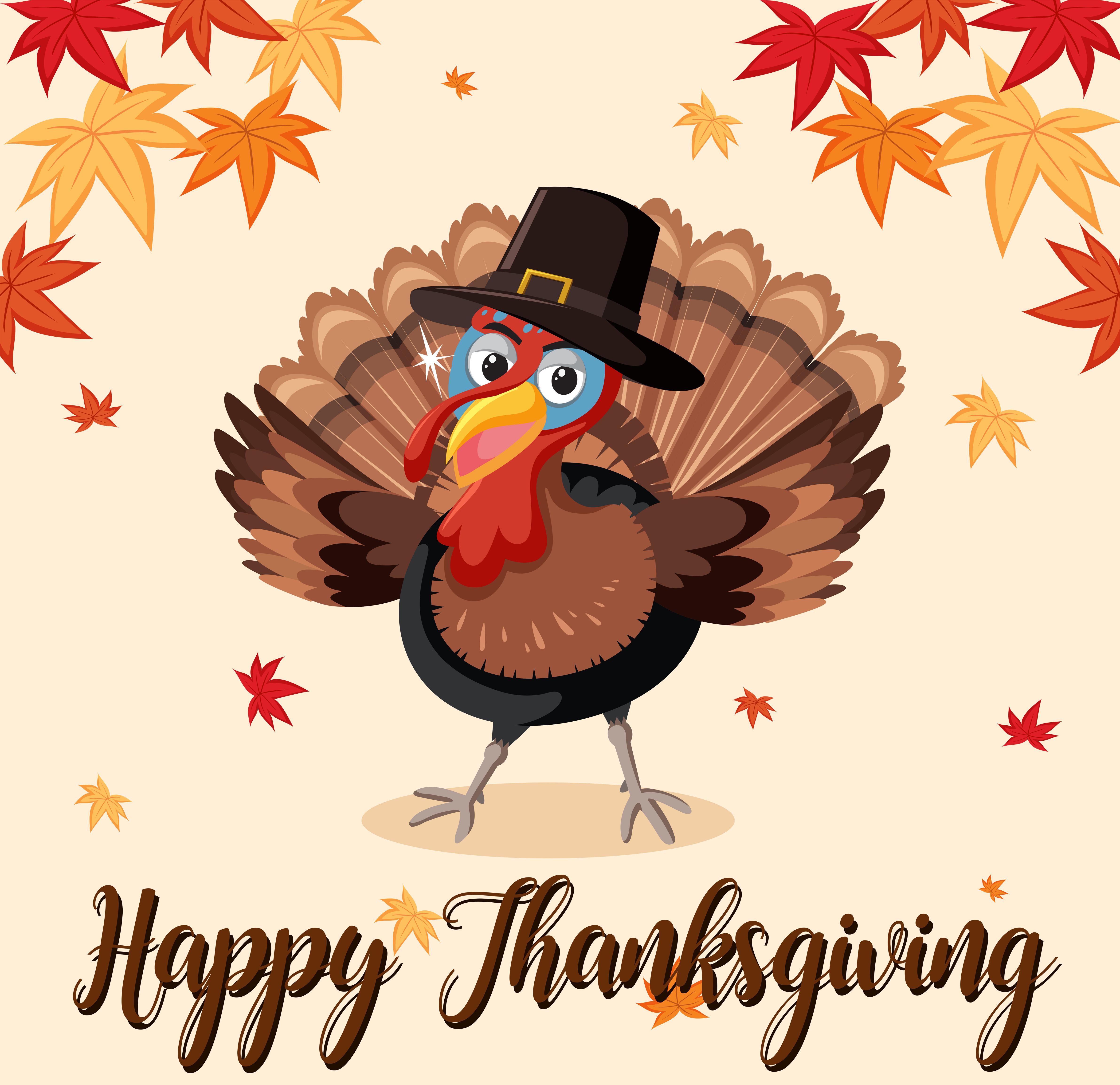 Happy Thanksgiving Truthahn Vorlage 303496 Vektor Kunst Bei Vecteezy