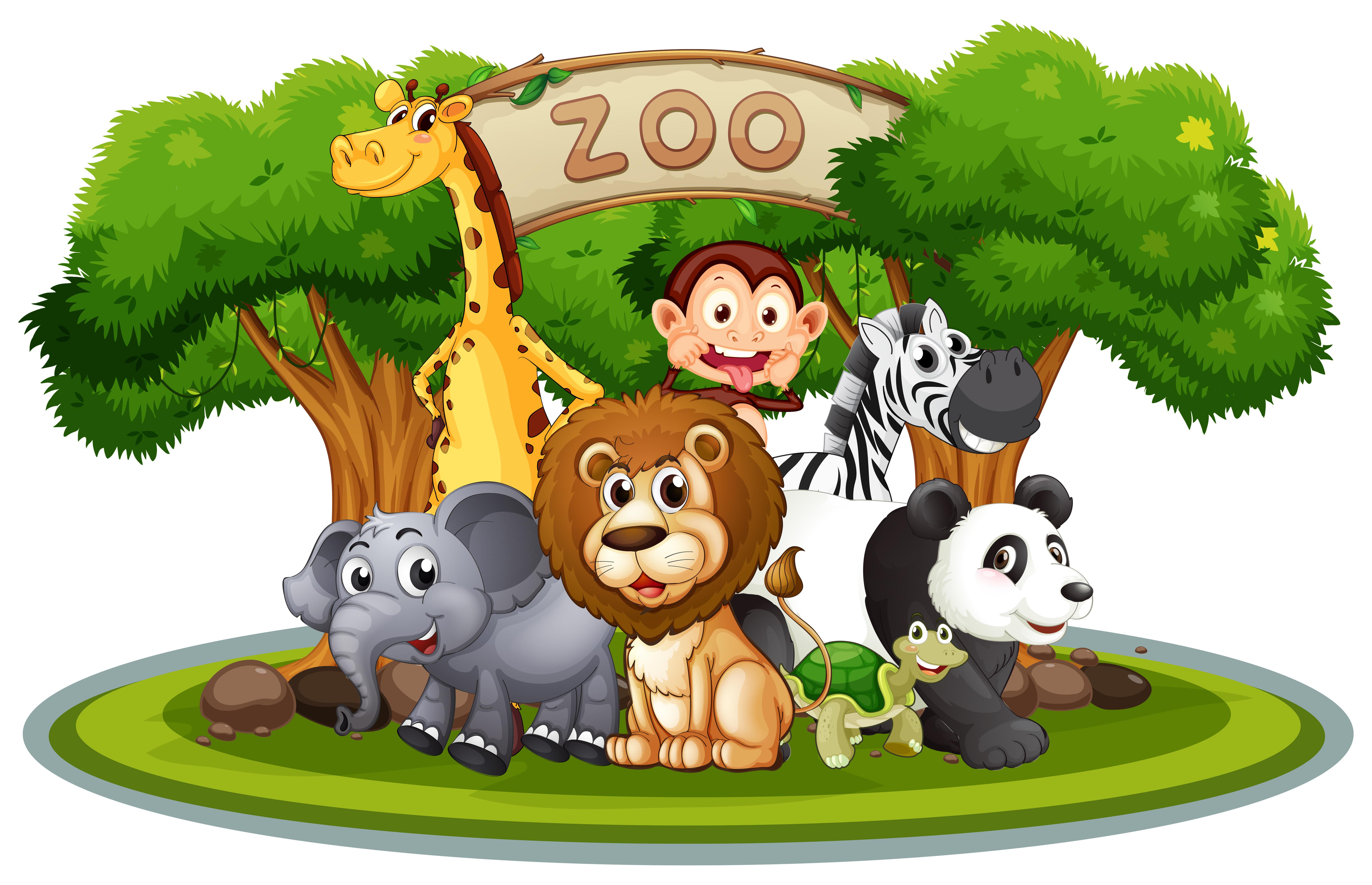 Süße Tiere im Zoo - Download Kostenlos Vector, Clipart