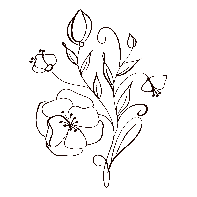Zeichnungen vorlagen blumen Blumen Vorlagen