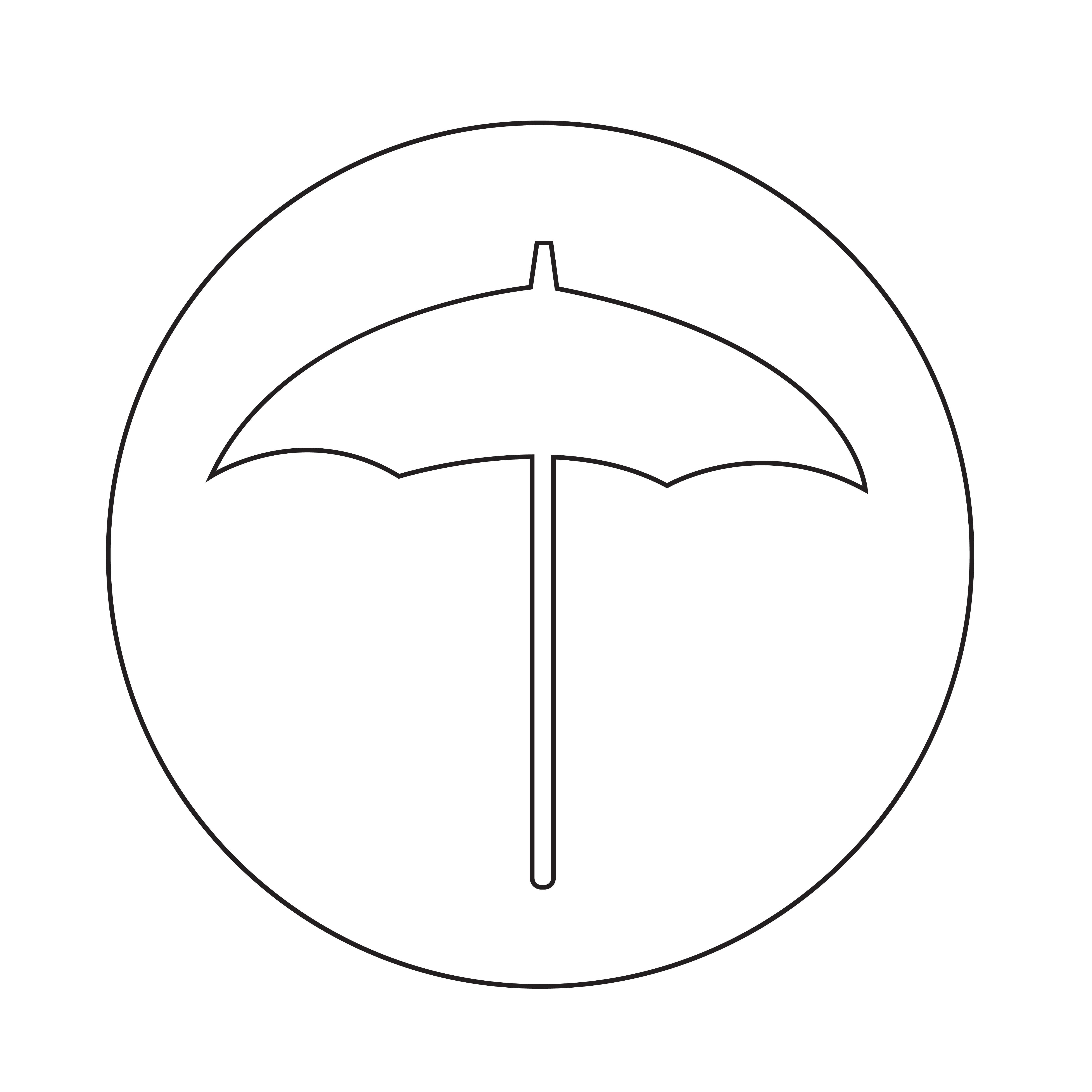 regenschirmsymbol  download kostenlos vector clipart