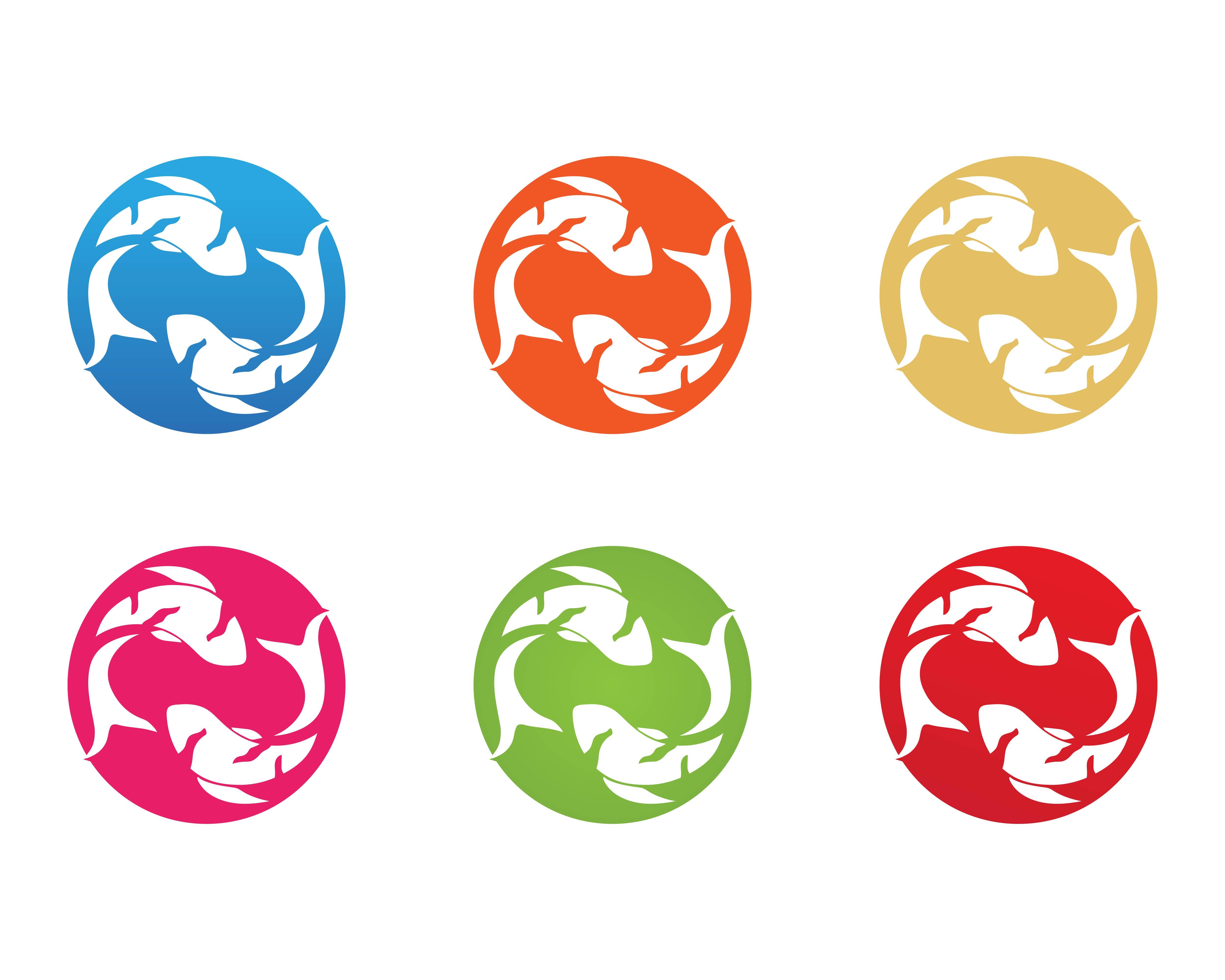 karpfen koi design auf weißem hintergrund tier fisch