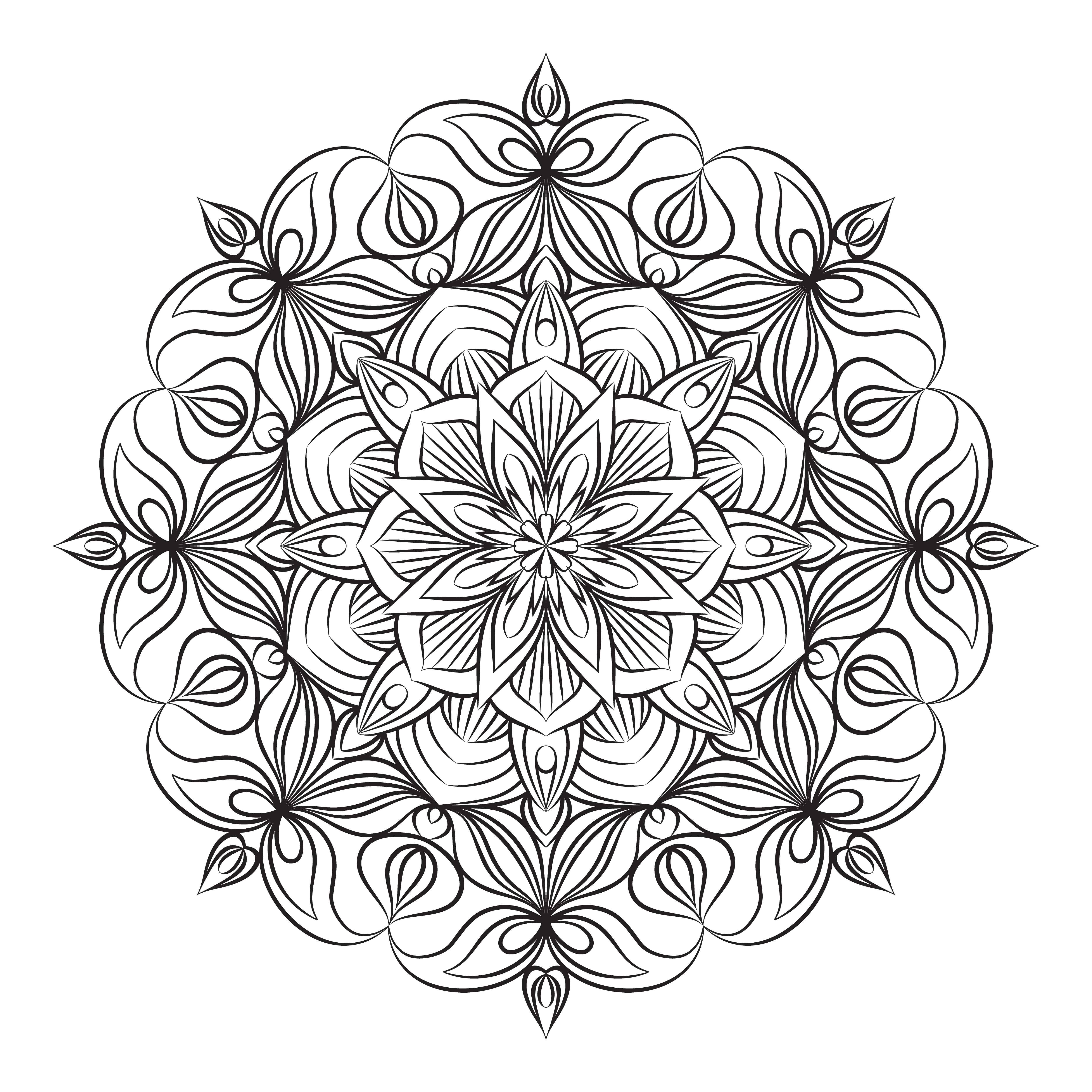 vektor mandala verzierung vintage dekorative elemente