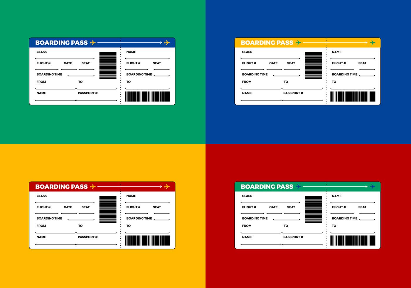 Kostenlose Flugticket Boarding Pass Vektor Download Kostenlos Vector Clipart Graphics Vektorgrafiken Und Design Vorlagen