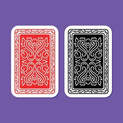 Karten Vector Illustration Poker Spielkarten