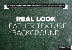 Vector Läder I Mörkgrön Gratis Vector Texture Vol.5