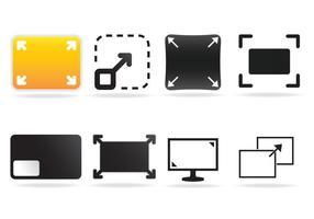 Gratis Full Screen Icon Vector