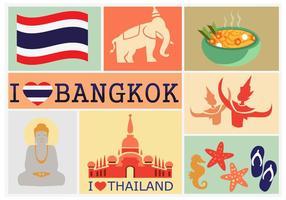 Ich liebe Bangkok vektor