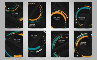 svart och orange affärsbroschyrmall vektor