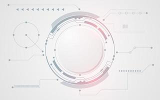 grauer und weißer abstrakter Tech-Kreishintergrund