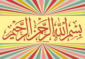 Bismillah Hintergrund Illustration