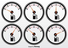 Treibstoffmesser Vektor Set