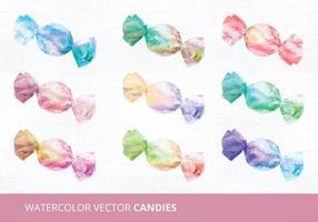Vattenfärg Candies Vector Illustration