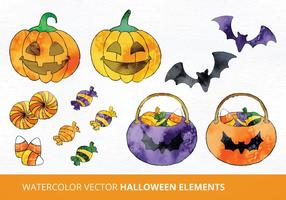 Aquarell Halloween Vektor-Illustration