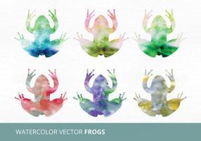 Akvarell vektor grodor