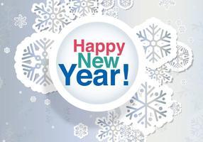 Nyårsaftonskortet vektor